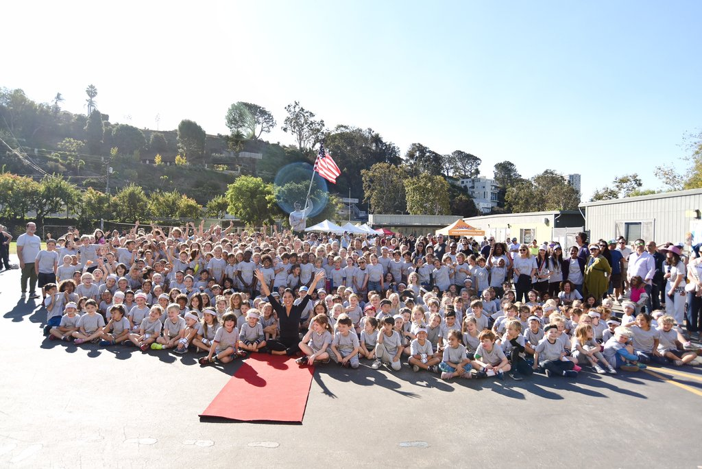 Michelle Kwan Visits Olympic Day